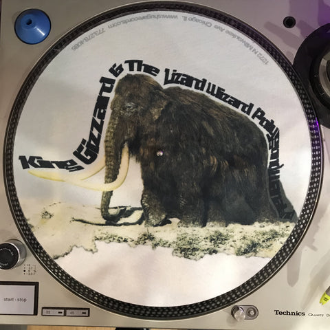 Shuga Records 2018 Limited Edition Vinyl Record Slipmat King Gizzard And The Lizard Wizard Polygondwanaland Space Mammoth 3