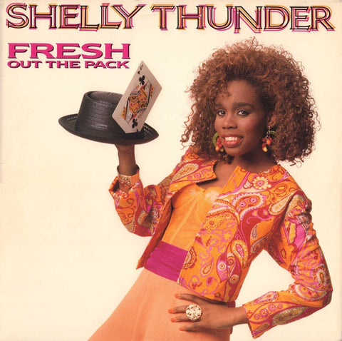 Shelly Thunder ‎– Fresh Out The Pack - Mint- Lp Record 1989 Mango USA Vinyl - Ragga HipHop / Dancehall / Reggae