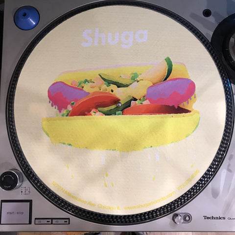 Shuga Records 2018 Limited Edition Vinyl Record Slipmat Chicago HotDog Dawg Slip Mat