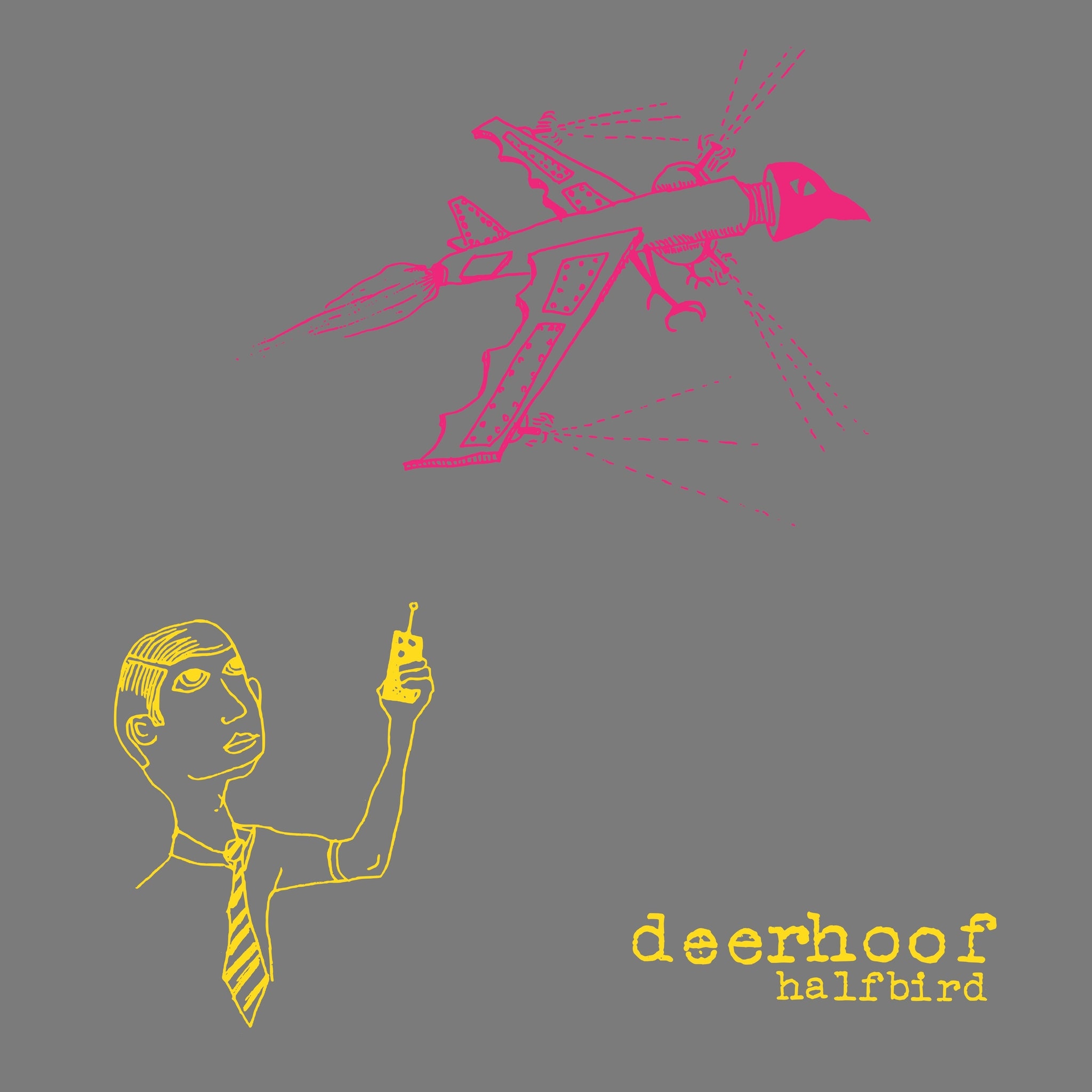 Deerhoof - Halfbird (2001) - New LP Record 2019 Joyful Noise USA Pink & Yellow Split Vinyl - Art Rock / Experimental