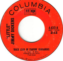 """Little"" Jimmy Dickens- When The Ship Hit The Sand / Truck Load Of Starvin' Kangaroos- VG+ 7"" Single 45RPM- 1966 Columbia USA- Folk/Country"