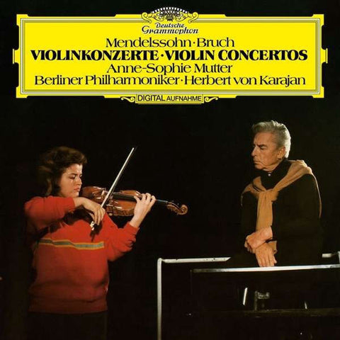 Anne-Sophie Mutter ‎& Herbert von Karajan & Berliner Philharmoniker – Mendelssohn / Bruch Violin Concertos - New Vinyl Record Deutshe Grammophon German 180 Gram Stereo Pressing with Download - Classical / Romantic