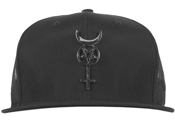 Black Scale - Women s New Era Adjustable Leather Strapback Hat with Occult  Emblem and Mesh Backing. ← ab7b54c75609
