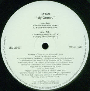 "Ja'Nel - My Groove Mint- - 12"" Single 2003 Jellybean Soul USA - House"