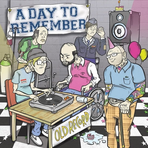 A Day To Remember ‎– Old Record  - New LP Record 2013 Victory Limited Edition Colored Vinyl & Download - Pop Punk / Metalcore