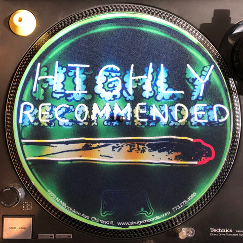 Records 2020 Limited Edition Vinyl Record Slipmat Highly Recommended Neon Sign Slip Mat