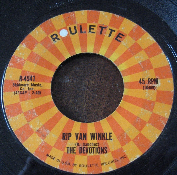 The Devotions ‎– Rip Van Winkle / (I Love You) For Sentimental Reasons VG 7