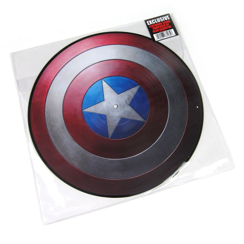 Alan Silvestri ‎– Music From Marvel Captain America: The First Avenger - New Vinyl Lp 2015 Buena Vista Hot Topic Exclusive Picture Disc - Soundtrack / Marvel