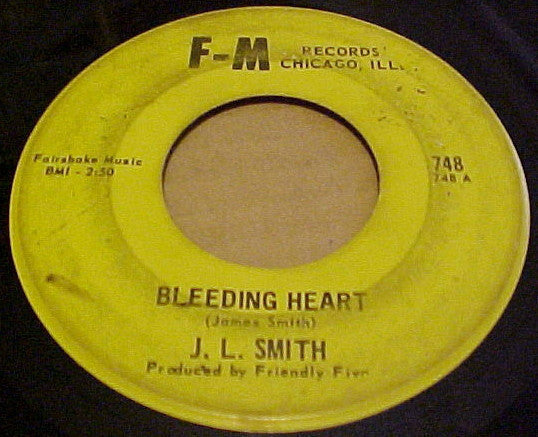"J.L. Smith - Bleeding Heart / Did You Do The Mosquito VG- - 7"" Single 45RPM F-M USA - Funk/Soul"