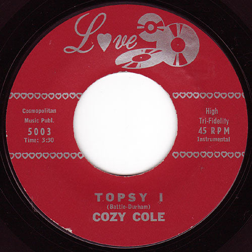 "Cozy Cole - Topsy VG+ - 7"" Single 45RPM 1958 Love USA - Jazz"