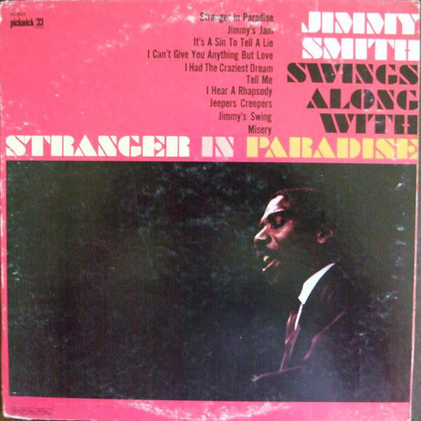 Jimmy Smith - Swings Along With Stranger In Paradise - VG+ 1966 Mono USA - Jazz
