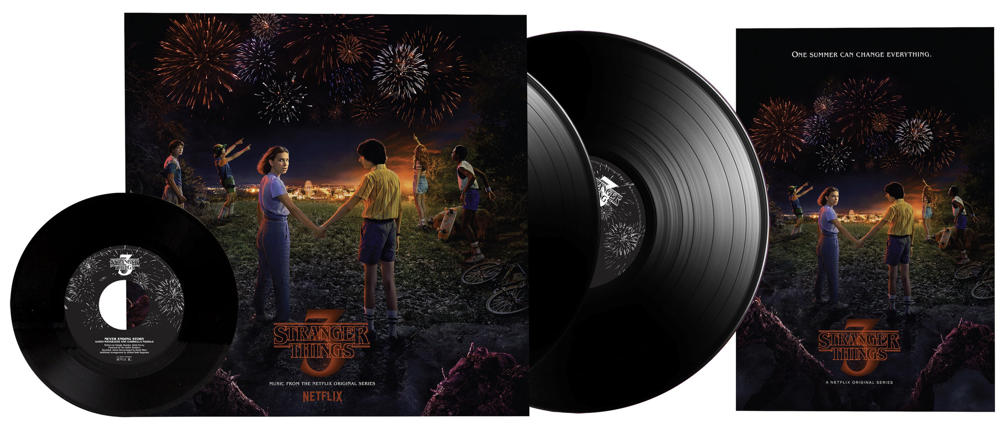 "Various Artists - Stranger Things: Soundtrack from the Netflix Original Series, Season 3 - New 2 Lp Record 2019 USA Vinyl & 7"" Single - Soundtrack"