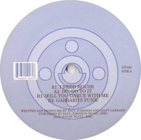 "Brother 2 Brother ‎(Gant Garrard & Paul Johnson)– I Need House - Mint 12"" Single USA 2002 - Chicago House"