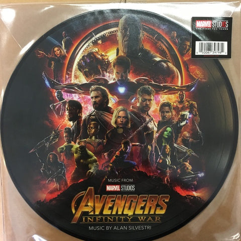 Alan Silvestri ‎– Avengers: Infinity War - New LP Record 2018 Vinyl Picture Disc EU Import - Soundtrack / Marvel