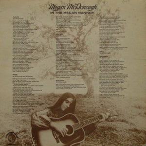 Megan McDonough ‎– In The Megan Manner - VG+ Lp Record 1972 USA Original Vinyl - Rock / Soft Rock