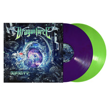Dragonforce ‎– Reaching To Infinity - New Vinyl 2017 Metal Blade 2-LP Gatefold Pressing on Neon Green and Purple Vinyl - Power Metal
