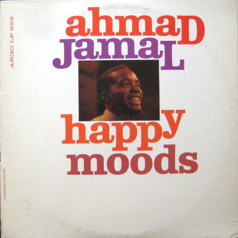 Ahmad Jamal ‎– Happy Moods VG 1960 Argo Mono Pressing USA - Jazz