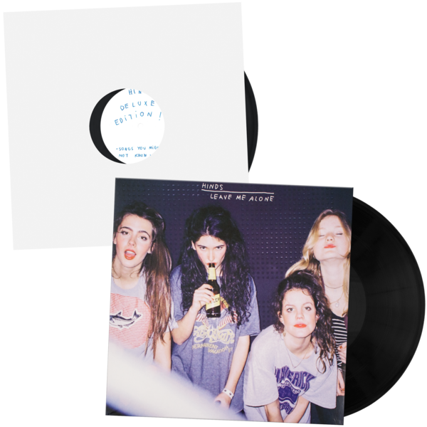 "Hinds - Leave Me Alone (Deluxe Edition w/ Bonus 12""!!!) - New Vinyl 2016 Mom + Pop V. Limited Edition (less than 50 at distro!) - Lo-Fi / Indie Rock / Garage Pop"