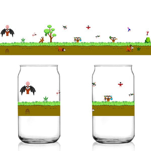 Weed & Beer Duck Hunt Dog NES 8-Bit Shuga Records 16 oz Libbey Can Glass Limited Batch1