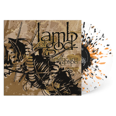 Lamb Of God ‎– New American Gospel (2000) -  New Vinyl 2017 Prosthetic Records Limited Edition Clear with Orange & Black Splatter Vinyl - Heavy Metal
