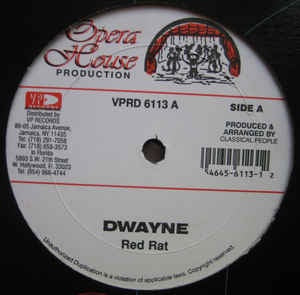 Red Rat / Tony Curtis & Ghost ‎– Dwayne / Wine - VG Single Record - 1997 USA Opera House - Dancehall
