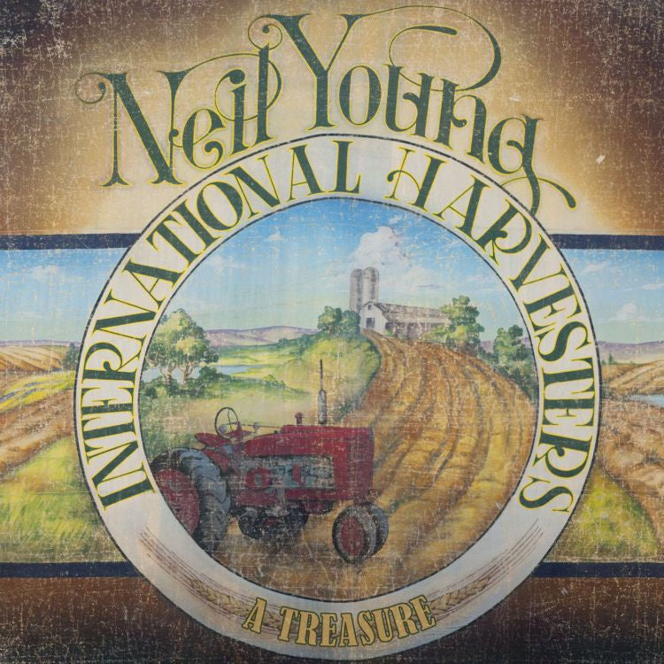 Neil Young / International Harvesters - A Treasure - New Vinyl 2011 Reprise Records 180Gram 2 Lp Pressing with Gatefold Sleeve and Etched D-Side - Folk Rock