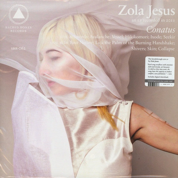 Zola Jesus - Conatus - New Vinyl Lp 2019 Sacred Bones Limited Reissue on Gray/Clear Smoke Colored Vinyl - Electronic / Experimental Pop