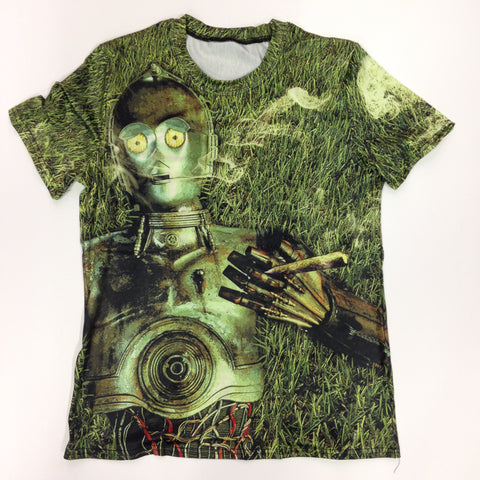 Stoned C3PO - 88% Polyester / 12% Spandex Blend T-Shirt