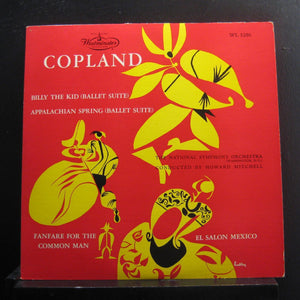 Howard Mitchell - Copland Billy The Kid, Appalachian Spring - VG+ 1954 Mono USA Original Press Westminster - Classical