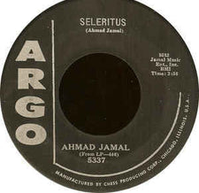"Ahmad Jamal - Seleritus / Tangerine VG - 7"" Single 45RPM 1959 Argo USA - Jazz"