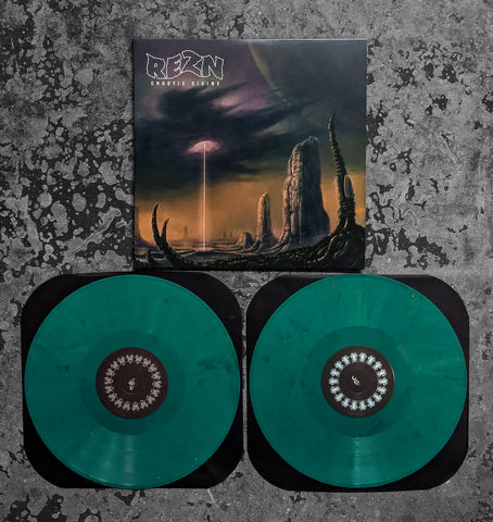 Rezn - Chaotic Divine - New 2 LP Record 2020 Limited Turquoise Shimmer Vinyl - Chicago Doom Metal
