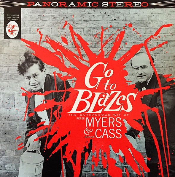 Peter Myers & Ronnie Cass – Go To Blazes - The Outrageous Wit Of... - Mint- Lp Record 1960 USA Stereo Original Vinyl - Comedy
