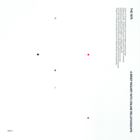 The 1975 - A Brief Inquiry Into Online Relationships - New 2 Lp Record 2018 USA Indie Exclusive White Vinyl & Download - Synth-pop / Indie Rock