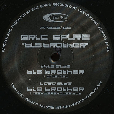 "Eric Spire ‎– Big Brother - Mint 12"" Single Record 2003 USA Vinyl - Acid House"