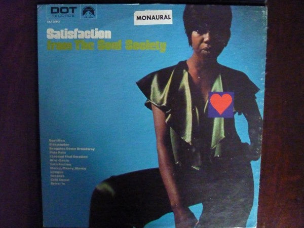 The Soul Society – Satisfaction From The Soul Society - VG Lp Record 1968 USA Mono Original Vinyl - Soul / Funk