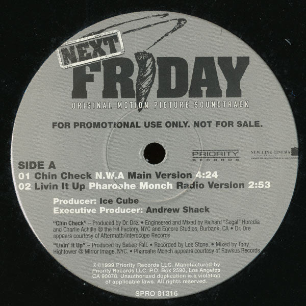 N.W.A. / Wu-Tang Clan / Wyclef Jean / Pharoahe Monch ‎– Taste Of Next Friday (Original Motion Picture Soundtrack) - VG+ 2000 USA EP Promo - Hip Hop