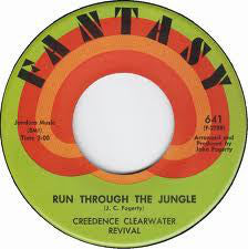 "Creedance Clearwater Revival - Run Through The Jungle / Up Around The Bend VG+ - 7"" Single 45RPM 1970 Fantasy USA - Rock"