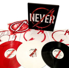 Metallica ‎– Through The Never (Music From The Motion Picture) - New Vinyl 2013 Blackened Recordings 3-LP Box Set on Red, White and Black Vinyl - Thrash / Heavy Metal