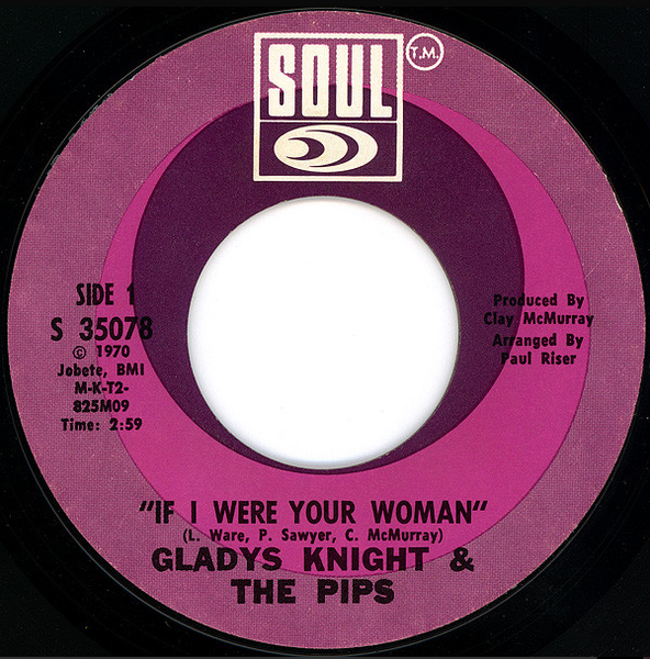 Gladys Knight & The Pips ‎– If I Were Your Woman / The Tracks Of My Tears - VG 45rpm 1970 USA - Soul