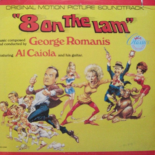 George Romanis - 8 On The Lam (1967 Original Motion Picture) - New Vinyl USA Stereo - Soundtrack