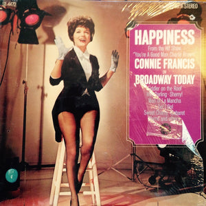 "Connie Francis ‎– Happiness - From The Hit Show ""You're A Good Man, Charlie Brown"" - Mint- Lp Record 1967 USA Stereo Original Vinyl - Musical Score / Original Cast"