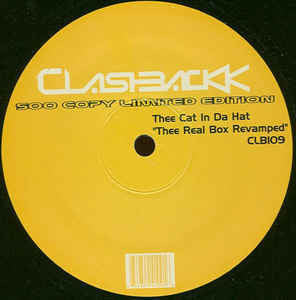 "Thee Cat In Da Hat (Felix Da Housecat) – Thee Real Box Revamped (Samples Yello ""Bostich"") - Mint- 12"" Single USA - Chicago House"