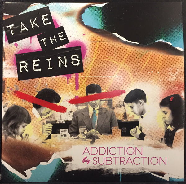 "Take The Reins ‎– Addiction By Subtraction - New Vinyl 2017 Shuga Records Exclusive on Chicago ""CFD"" Fire Truck Flame Red (51 made) - Rock / Alt / Indie"