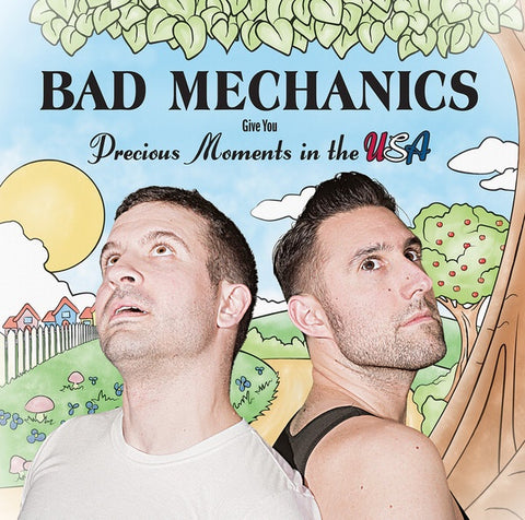 Bad Mechanics ‎– Precious Moments In The USA - New Vinyl 2017 Stonewalled Black Viny Pressing on Black Vinyl with Download - Comedy Rock