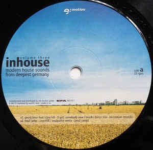 "Various ‎– Inhouse Volume Three - Modern House Sounds From Deepest Germany - Mint- 2x 12"" Single Record - Deep House"
