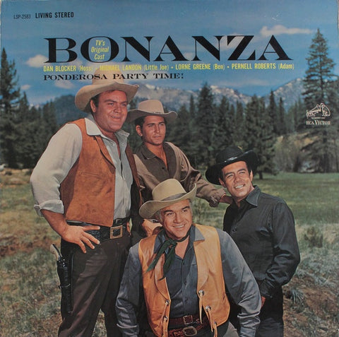 Bonanza - TV's Original Cast ‎– Ponderosa Party Time! - VG+ Lp Record 1962 RCA Living Stereo USA Vinyl - Soundtrack / Country
