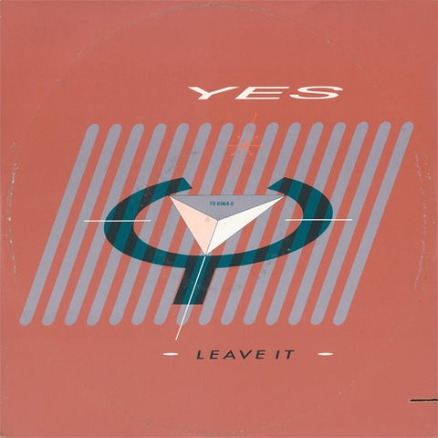 "Yes ‎– Leave It - VG+ 12"" Single Record 1984 ATCO USA Vinyl - Synth-pop / Prog Rock"