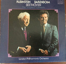 "Arthur Rubinstein & Barenboim With The London Philharmonic Orchestra - Beethoven - Concerto No 5 In E-Flat, Op. 73 ""Emperor"" - New Vinyl 1976 (Original Press) Stereo USA - Classical"