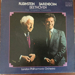 "Arthur Rubinstein & Barenboim With The London Philharmonic Orchestra - Beethoven - Concerto No 5 In E-Flat, Op. 73 ""Emperor"" - New Vinyl Record 1976 (Original Press) Stereo USA - Classical"