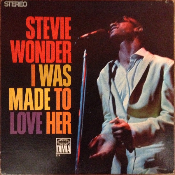 Stevie Wonder ‎– I Was Made To Love Her - VG Lp Record 1968 Repress (Orig. 1967) USA Original Vinyl - Soul